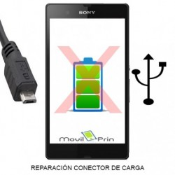 Reparación Conector Carga / Sony Xperia E